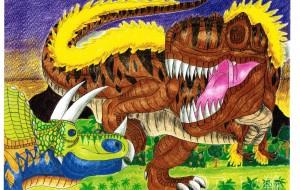 ティラノサウルスVSトリケラトプスNO.4 - Yossie