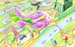 テコリン鳥と町 - Kenji