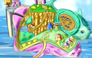 双子クジラ島 海上休憩港にて - Kenji