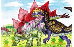 ステゴサウルスVSアロサウルス - Yossie