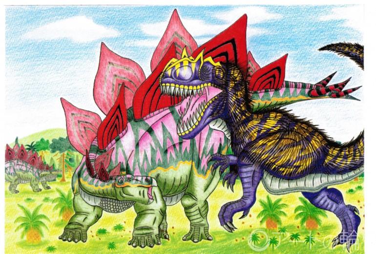 ステゴサウルスVSアロサウルス