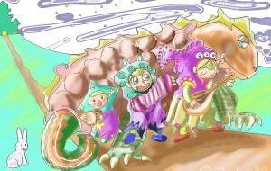 三姉弟と恐竜の合唱団 - Kenji