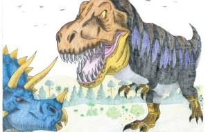 ティラノサウルスvsトリケラトプス - Yossie
