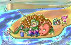 恐竜合唱団・海の岬で釣りをする - Kenji