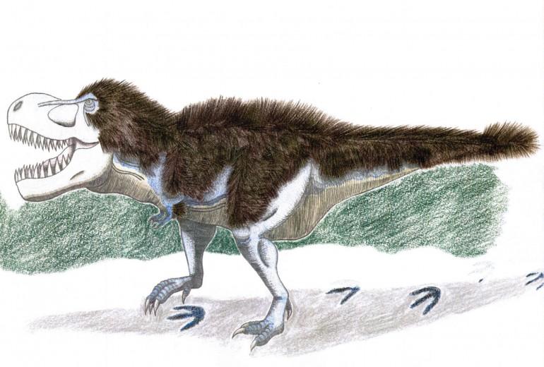 雪上のティラノサウルス