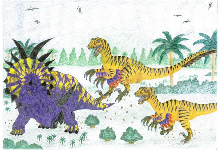 スティラコサウルスvsヴェロキラプトル