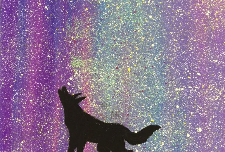 星空の下で