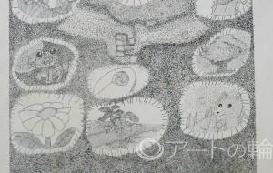 13-Takeshi-心の世界 - 鶴ヶ島市立中央図書館 「障がい者アート絵画展」