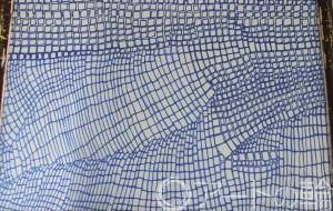 31-森川里緒奈 電車(東武東上線) - 鶴ヶ島市立中央図書館 「障がい者アート絵画展」