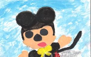 12-大澤由美子-ミッキー - 鶴ヶ島市立中央図書館 「障がい者アート絵画展」