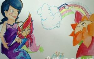 ひまわりさんが描いたニジ - あゆみ