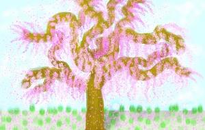 しだれ桜 - 指一本のアーティスト