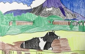牧場と富士山 - 太一