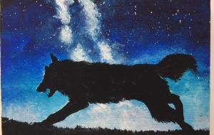走るオオカミ - RINA