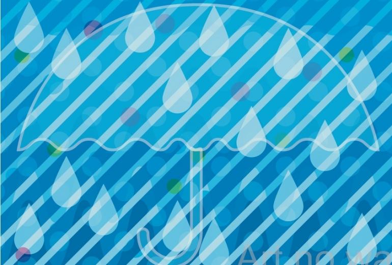雨のイルミネーション
