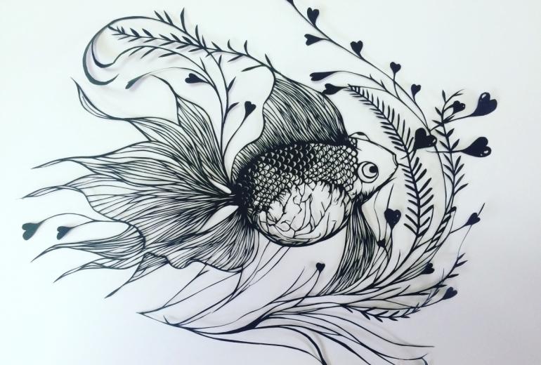 幸せを呼ぶ金魚