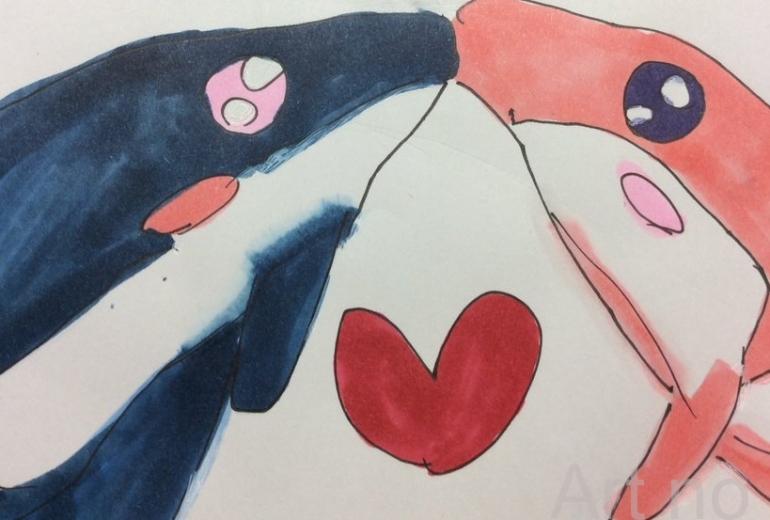 イルカのカップル