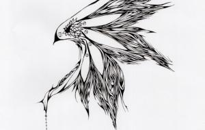 羽ピアス - キナコモチコ