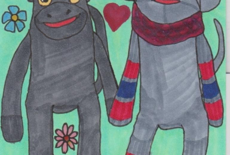ソックモンキーのカップル
