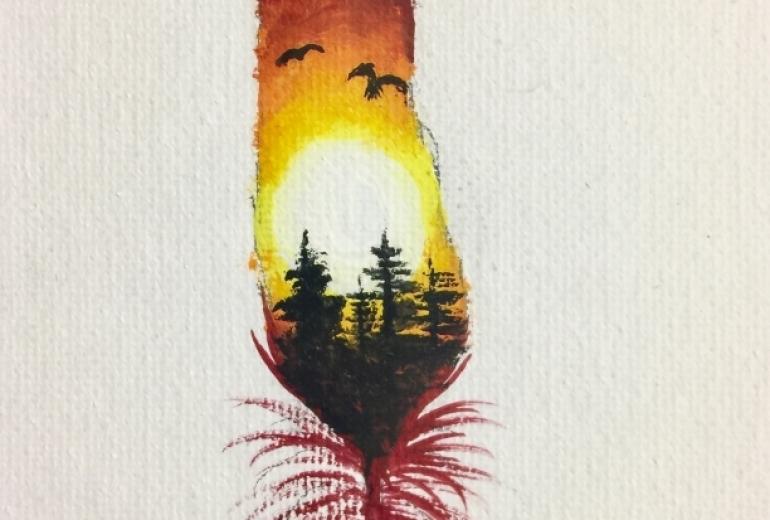夕日の羽根