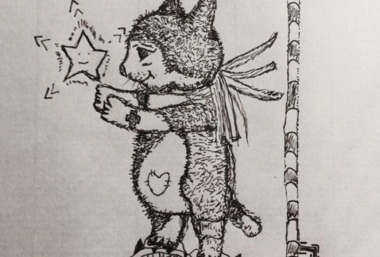 星を抱く猫