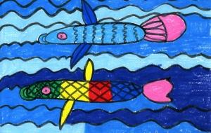 魚 - トモ・タカイのワンダフル ワールド アート展2017