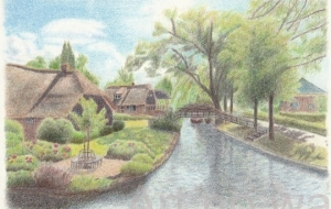 水路のある村 - cocoa float