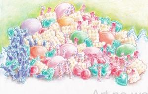 お菓子の山 - 虎目梨那