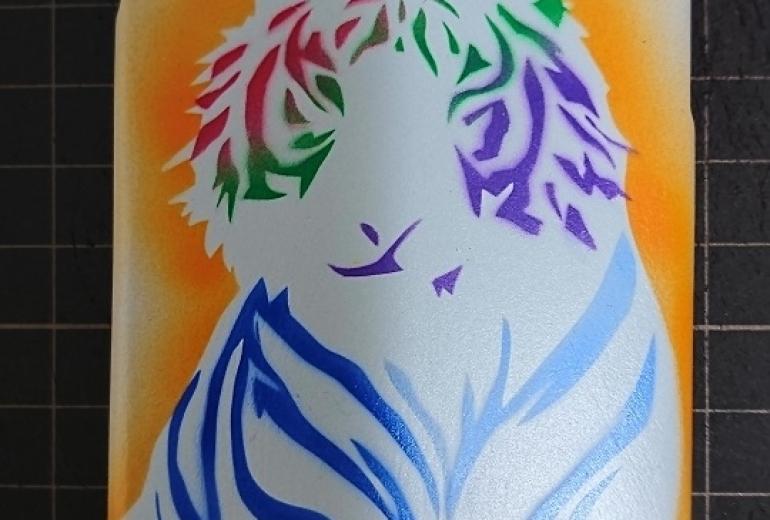 カラフルな虎
