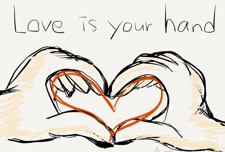 love is your hand