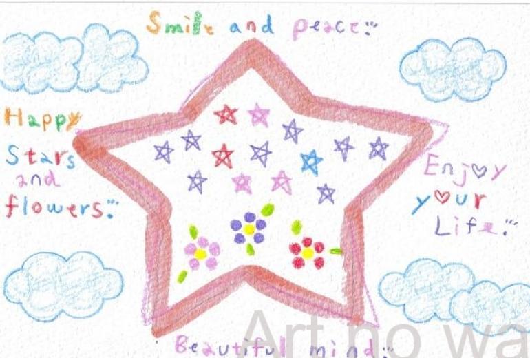 空と星と花の世界