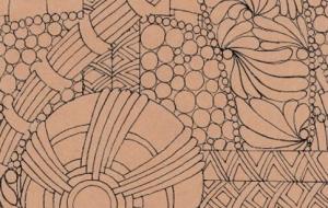 丸と線のゼンタングル - 虎目梨那