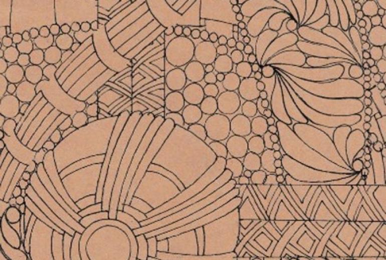 丸と線のゼンタングル