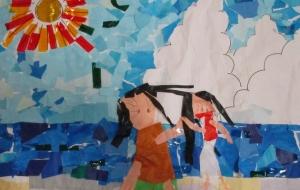 18_たのしい うみ!(ゆめの園生活) - 第2回鶴ヶ島市立中央図書館 「障がい者アート絵画展」2018