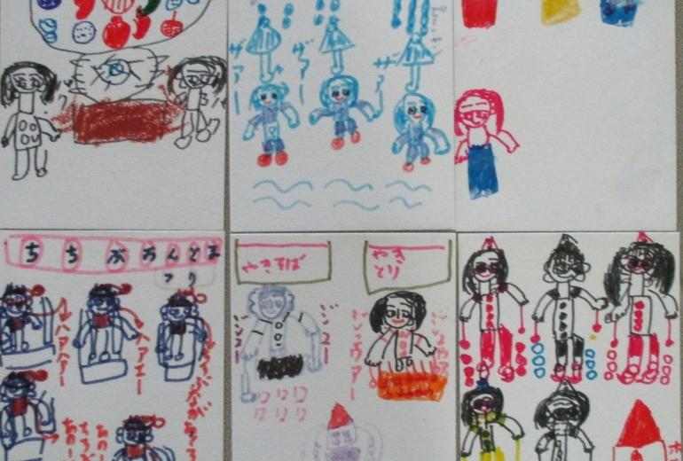 24_おまつりの絵(飯野美穂)