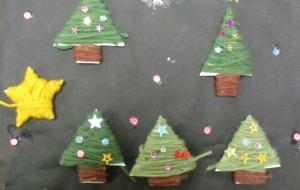 17_クリスマスの夜(ゆめの園生活) - 第2回鶴ヶ島市立中央図書館 「障がい者アート絵画展」2018
