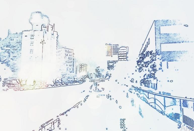 霧けむる街