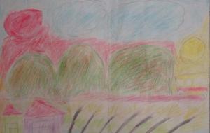 9_秋のふるさと(佐々木日香里) - 第2回鶴ヶ島市立中央図書館 「障がい者アート絵画展」2018