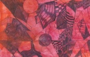 43_混沌(初野真菜) - 第2回鶴ヶ島市立中央図書館 「障がい者アート絵画展」2018