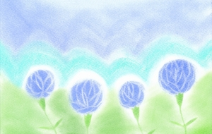 ブルーローズ - 桃うさぎ