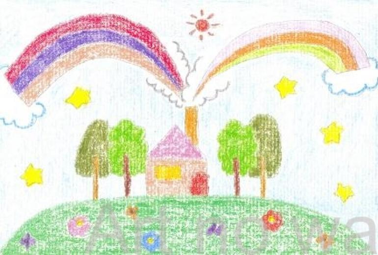 虹を製作する家