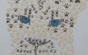 足跡柄のヒョウ - 天狗