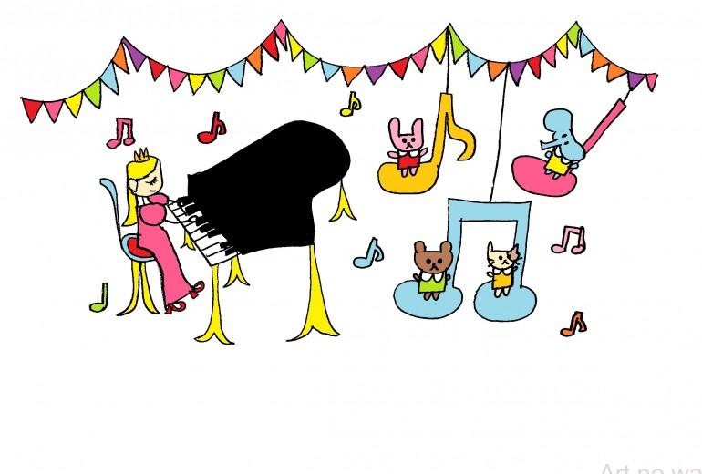 ピアノとガーランド