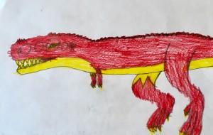 恐竜シリーズ(赤ティラノサウルス) - ゆうき