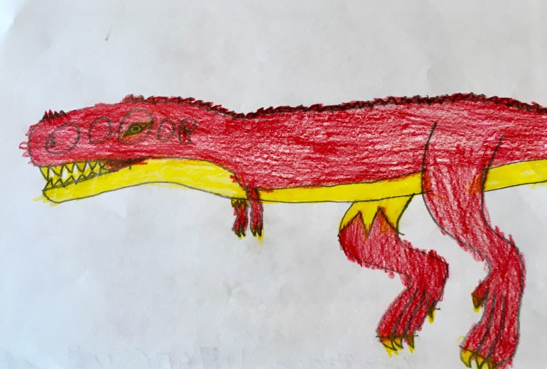 恐竜シリーズ(赤ティラノサウルス)