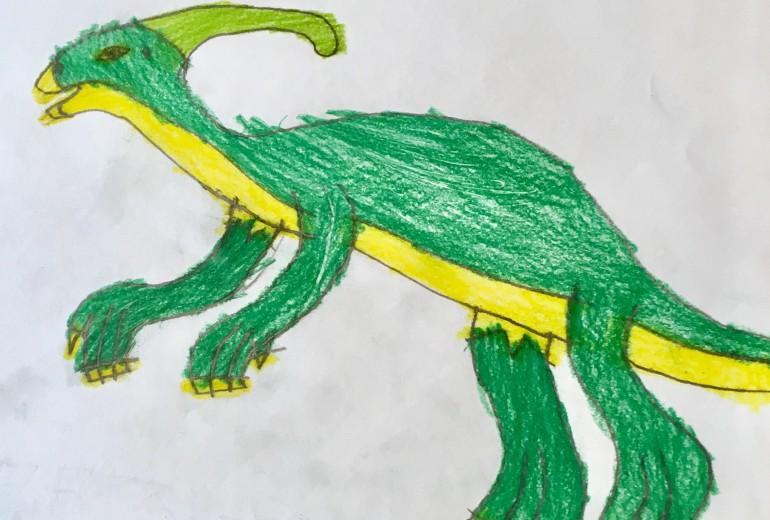 恐竜シリーズ(パラサウロロス)