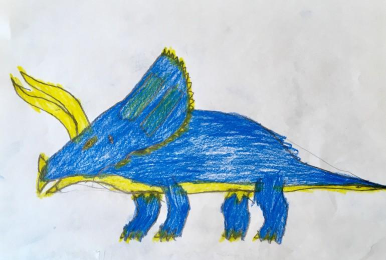 恐竜シリーズ(青トリケラトプス)