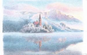 冬の湖 - cocoa float