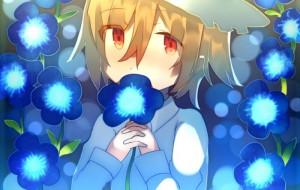 青い花に囲まれて -