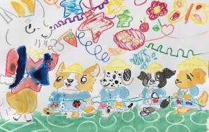 犬の幼稚園 - クルミ